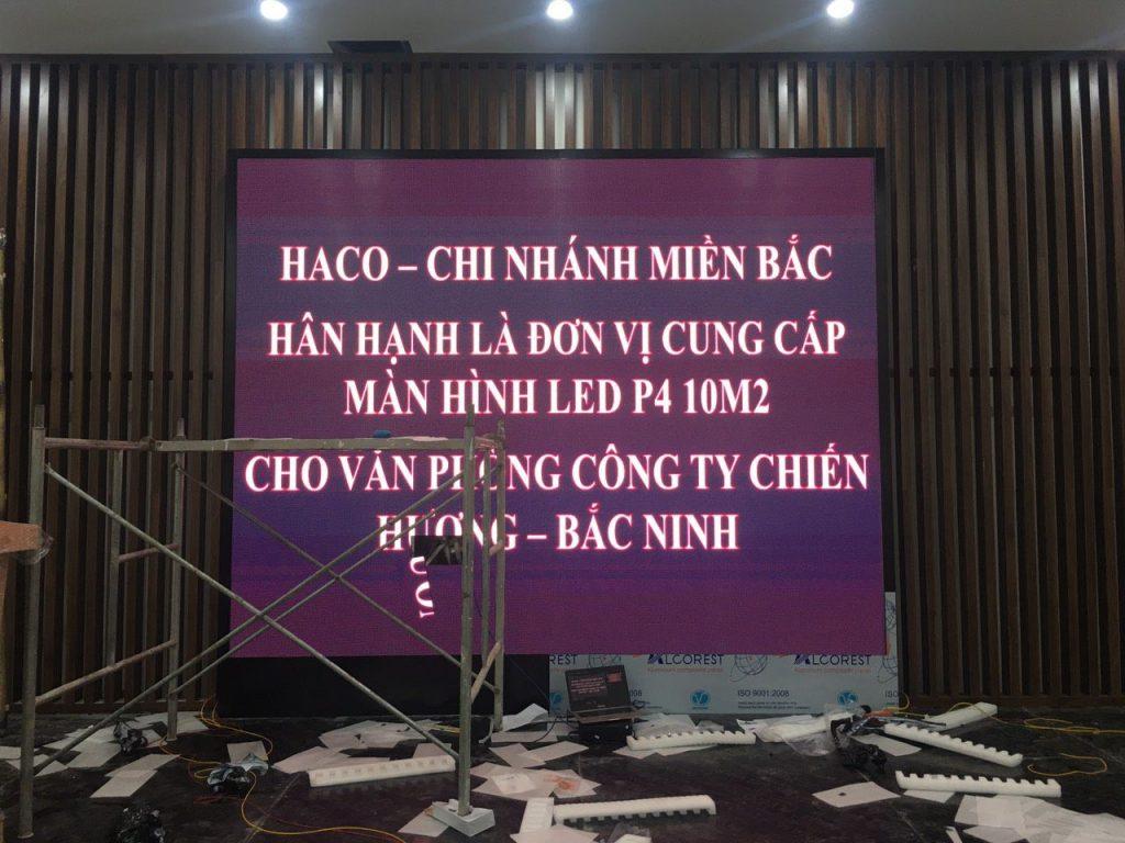 HacoLED thi công lắp đặt tại văn phòng công ty Chiến Hương Bắc Ninh
