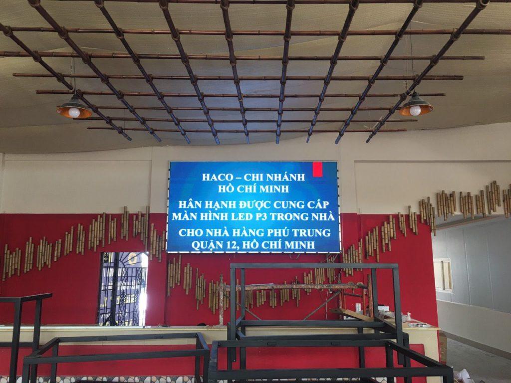 HACO thi công lắp đặt tại nhà hàng Phú Trung, Q12, Hồ Chí Minh