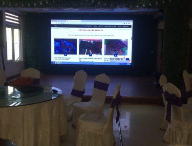 Màn hình LED P4 10m2 – Lắp đặt tại Nhà Hàng Hải Yến Lào Cai